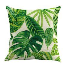 EMVANV Tropical Kissenbezug Kissen Schutzhülle Grün Leaf von tropischen Palm Telopea Fensterblätter ceriman Home decorective Kissenhülle, Wie abgebildet, 5