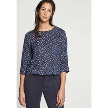 Seidensticker Shirtbluse 3/4 Arm Print Langarmblusen dunkelblau Damen