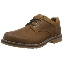Timberland Larchmont_Larchmont Oxford, Herren Oxford Schnürhalbschuhe, Braun (Oakwood Brown FG and Suede), 42 EU