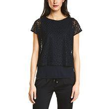 Street One Damen T-Shirt 311974, Blau (Night Blue 10109), 40