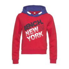 BENCH Sweatshirt dunkelblau / rot / schwarz / weiß