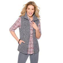 Classic Basics Fleece-Weste mit Umlegekragen