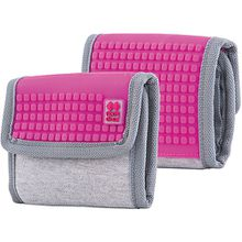 Pixie Crew: Geldbeutel, grau/pink rosa/grau