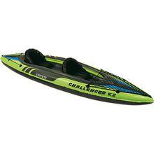 Schlauchboot Kayak Challenger K2 Set, 4-tlg. grün