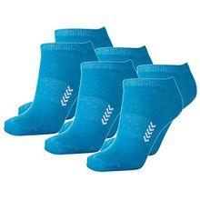Hummel 6 Paar Sneaker Socken für Damen und Herren - viele Farben - Größen 36-48 (36 - 40 (10), Atomic Blue/White (8367))