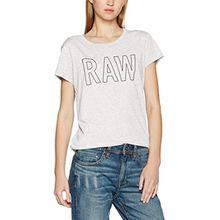 G-STAR RAW Damen T-Shirt Cirst Straight R T S/S, Weiß (White HTR 129), 36 (Herstellergröße:S)