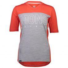 Mons Royale - Women's Phoenix Enduro VT - Radtrikot Gr S;XS grau/schwarz;grau/rot