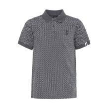 NAME IT Poloshirt dunkelgrau / weiß