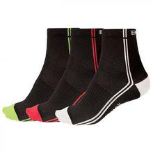 Endura - Coolmax Stripe II Socken - Radsocken Gr L-XL;S-M schwarz