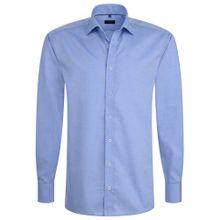 ETERNA Langarm Hemd REGULAR FIT blau