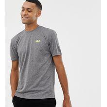 Helly Hansen - Graues, gestreiftes T-Shirt mit Logo - Grau