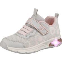 GEOX Sneakers Low 'Spaceclub Girl' grau / altrosa