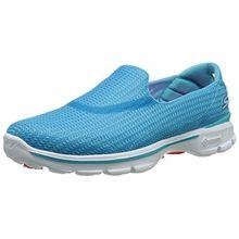 Skechers Go Walk 3 Damen Sneakers, Blau (Turq), 35 EU