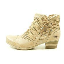 Mustang Damen Stiefeletten Beige, Schuhgröße:EUR 38