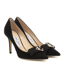 Pumps Logo 85 aus Veloursleder