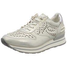 Bugatti Damen 422404023049 Sneaker, Weiß (White/Metallics 2090), 38 EU