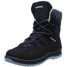 Lowa Unisex-Kinder Calcetina GTX Mid Trekking-& Wanderhalbschuhe, Blau (Navy/Iceblue), 33 EU