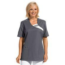 clinicfashion 12612037 Schlupfhemd grau für Damen, Mischgewebe, Größe XL