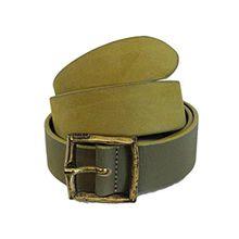 DIESEL Belts BAGUEL Damen Ledergürtel, Rindsleder (85, Khaki)