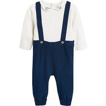 Baby Set Latzhose + Langarmbody  dunkelblau Jungen Baby
