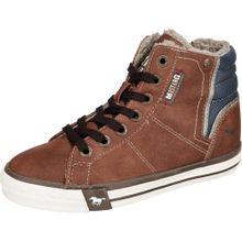 MUSTANG Sneakers High für Jungen blau / braun