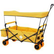 Bollerwagen-Set, faltbar gelb
