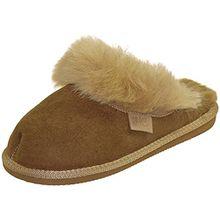 Extra Dicke Lammfell Pantoffeln für Damen, Farben:Beige, Schuhgröße:39