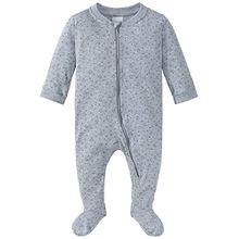 Schiesser Unisex Baby Zweiteiliger Schlafanzug Anzug mit Fuß, Grau (Grau-Mel. 202), 74 (Herstellergröße: 074)