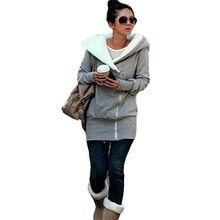 Damen Herbst Winter Jacke Hooded Mantel Kapuzen Pullover Sweats Kapuzenjacke Kapuzen pulloverpull Schweiß Grau Schwarz Rosa S M L XL (Medium, Grau)