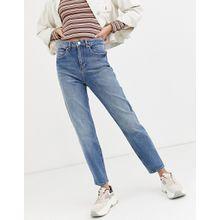 Miss Selfridge – Mom-Jeans in verwaschenem Mittelblau