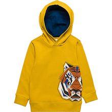 Sweatshirt mit Kapuze , Tiger gelb Jungen Kleinkinder