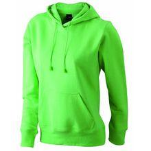 James & Nicholson Damen Sweatshirt Ladies' Hooded Sweat, Gr. Medium, Grün (lime-green)
