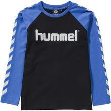 Hummel Shirt blau / schwarz / weiß
