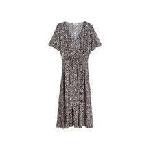 MANGO Kleid 'zebra' schwarz / weiß