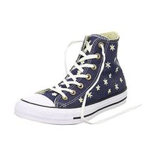 Converse Damen CTAS Hi Sneakers, Blau (Navy/Fresh Yellow/White), 37 EU