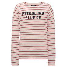 Petrol Industries Shirt feuerrot / schwarz / wollweiß