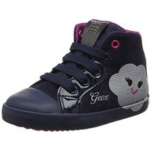 Geox Baby Mädchen B Kiwi Girl C Sneaker, Blau (Navy/Silver), 24 EU