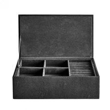 Schmuckbox mit Deckel Stingray, schwarz