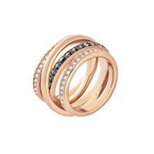 Swarovski Damenring 'Dynamic 5184220' rosegold / schwarz