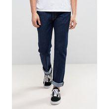 Levi's Original 501 - Jeans mit gerade geschnittenen Beinen und normaler Bundhöhe in Rinse-Waschung - Blau