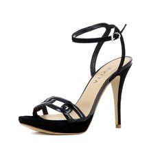 EVITA Damen Sandalette VALERIA Klassische Sandaletten schwarz Damen