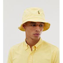Polo Ralph Lauren - Gelber Fischerhut mit buntem Polospielerlogo, exklusiv bei Asos - Gelb