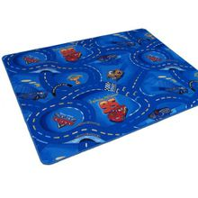 Kinder Spiel Teppich Walt Disney Cars Auto Blau 200x200 cm