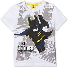 Lego Batman Jungen T-Shirt 793-Legobatman, Weiß, 10 Jahre