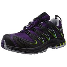 Salomon XA Pro 3D GTX, Damen Trekking- & Wanderhalbschuhe, Violett (Cosmic Purple/Black/Granny Green), 38 EU (5 Damen UK)