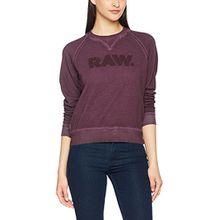G-STAR RAW Damen Sweatshirt Daefera Cropped R Sw Wmn, Violett (Maroon 671), X-Large
