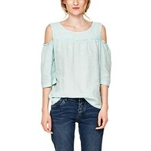 s.Oliver RED LABEL Damen Leinenbluse mit Cut-Outs Pale Turquoise 46