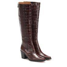Stiefel Western aus geprägtem Leder