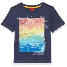 s.Oliver Jungen T-Shirt 63.805.32.5181, Blau (Dark Blue 5816), 128