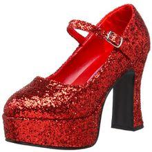 Pleaser Mar50g/r, Damen Mary Jane Halbschuhe, Rot (Red), 38 EU (5 UK)